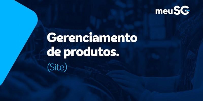 Gerenciamento de Produtos no Site
